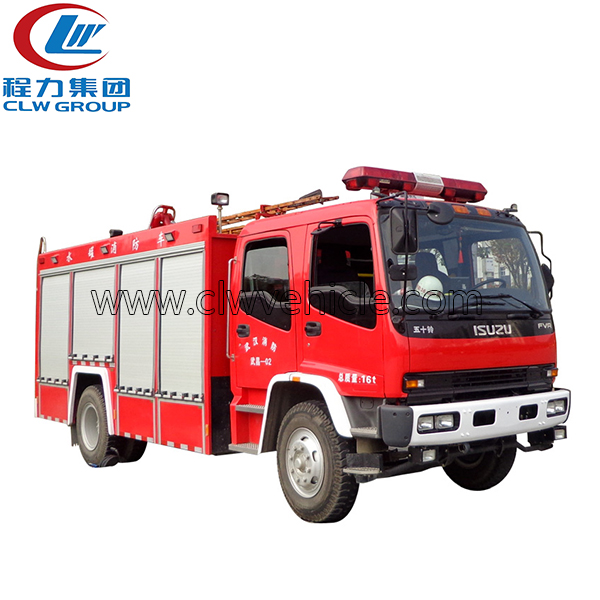 DONGFENG 4X4 5CBM Foam Powder Fire Engine Truck