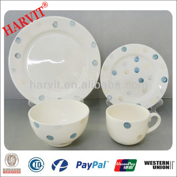 Blue And White Polka Dot Chinese Dolomite Pottery Dinnerware Sets  sc 1 st  Alibaba & Blue And White Polka Dot Chinese Dolomite Pottery Dinnerware Sets ...