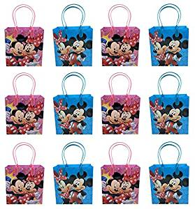 Disney Mickey Minnie Mouse 12 Pcs Goodie Bags Party Favor Gift Birthday