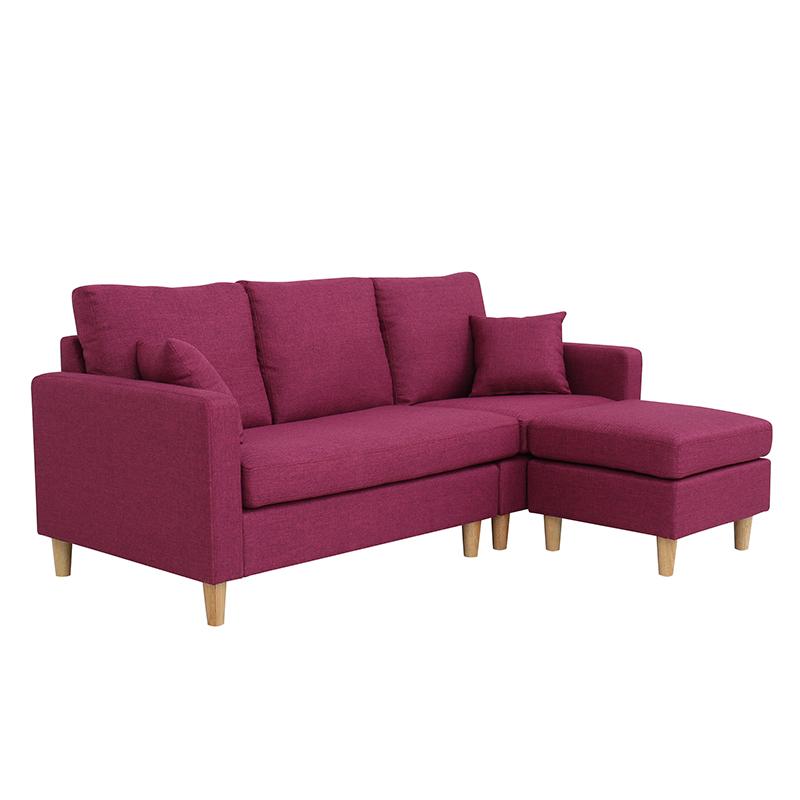 Purple Colour Italian Style Sectional