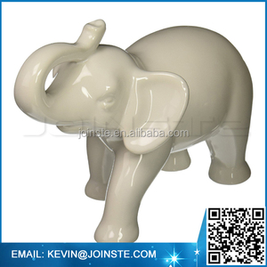 Custom accepted Ceramic Elephant Figurine, White (Medium)