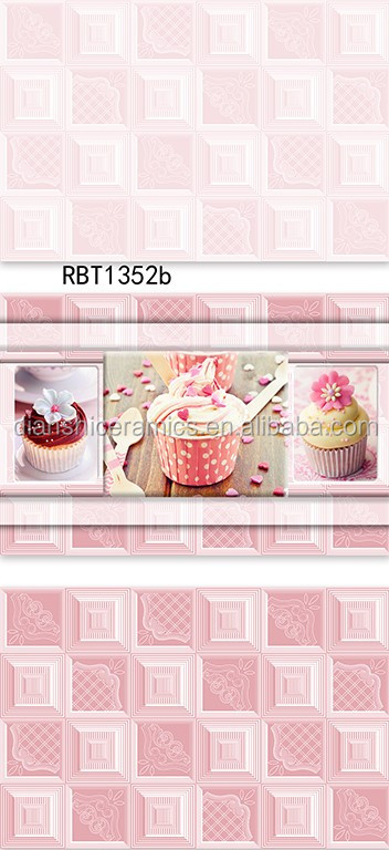 300x600mm Pink Ceramic Bathroom Wall Tile