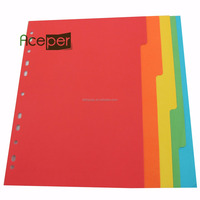 Colored Index Tabs, paper File Dividers without number