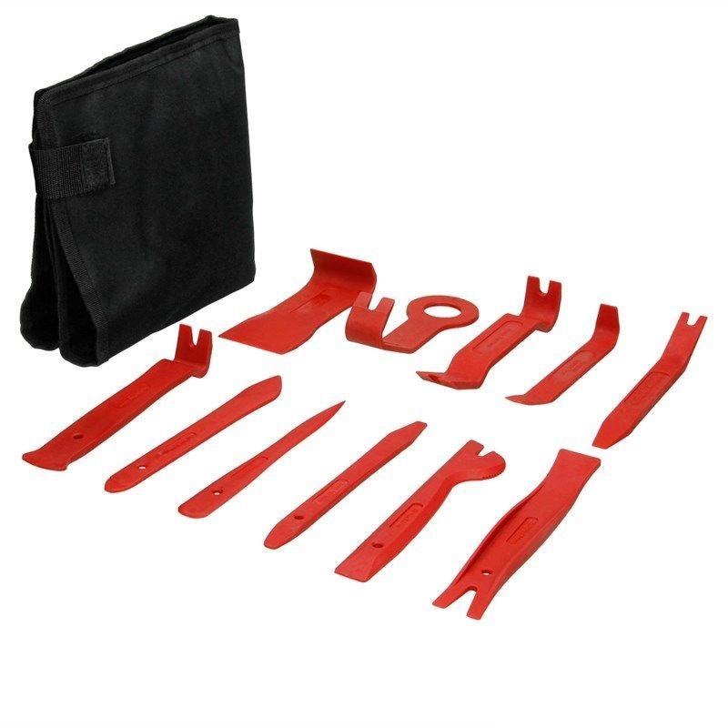 Zierleistenkeil 12-tlg Set Plastik Montierhebel Lösehebel Werkzeug Hebe Keil