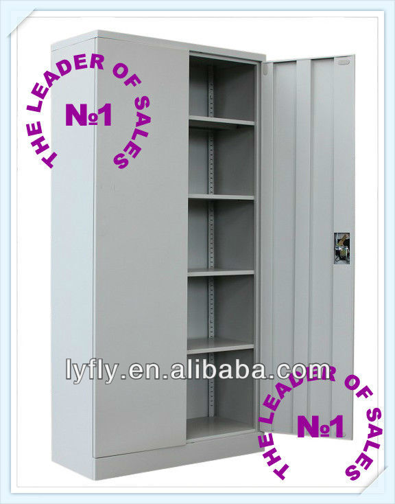 Luoyang Office Furniture Manufacturer Full Height KD Structure 2 Door Metal Cabinet