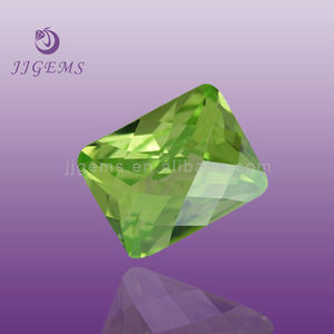 Flat bottom rectangle apple green asscher cut gemstone names