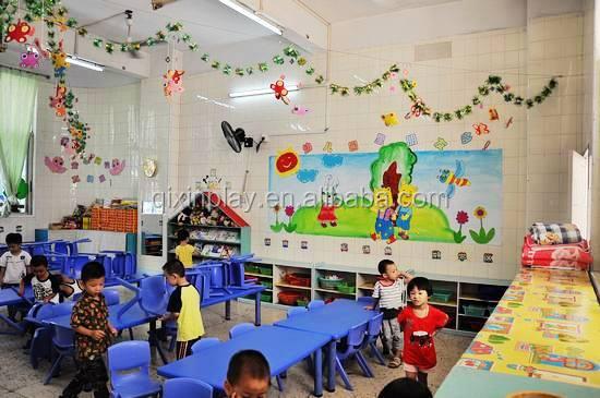 lovely modern preschool furniture children plastic bed/used