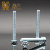 COMPETITIVE PRICE HIGH QUALITY DIN 933 ASTM A325 FULL THREADED HEX BOLT AND NUT