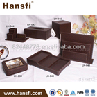 Hotel room amenities PU leather tray