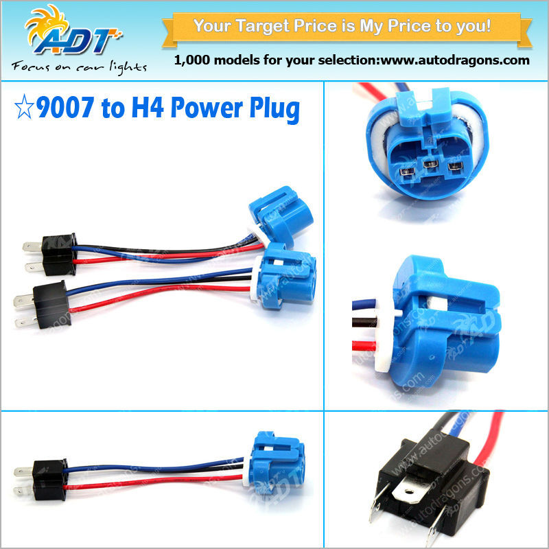 9004 Headlight Wiring : H to  pigtail headlight conversion harness
