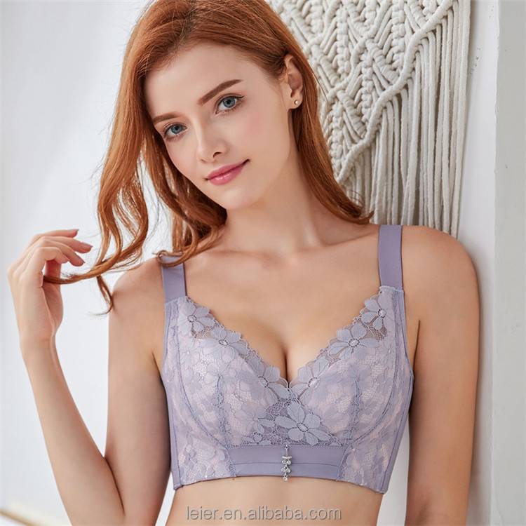 d9d9cf6e01ae2 2018 New Big Breast Bras Wireless Padded Bras Plus Size 34-40 B