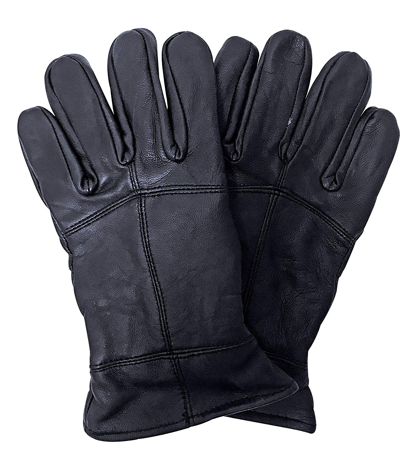 7ec970b78c34e Get Quotations · Mens 3M Thinsulate 40 gram Thermal Insulated Fleece Lined  Winter Leather Gloves