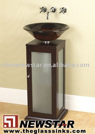 Wash basin with stand cabinet