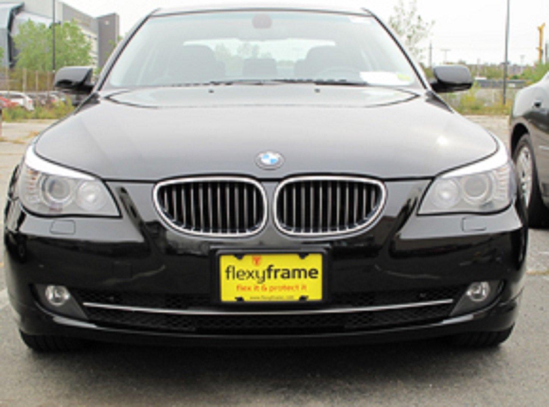A NASA-like Rubber Front License Plate Bracket Frame Tag Holder Guard Bumper for BMW