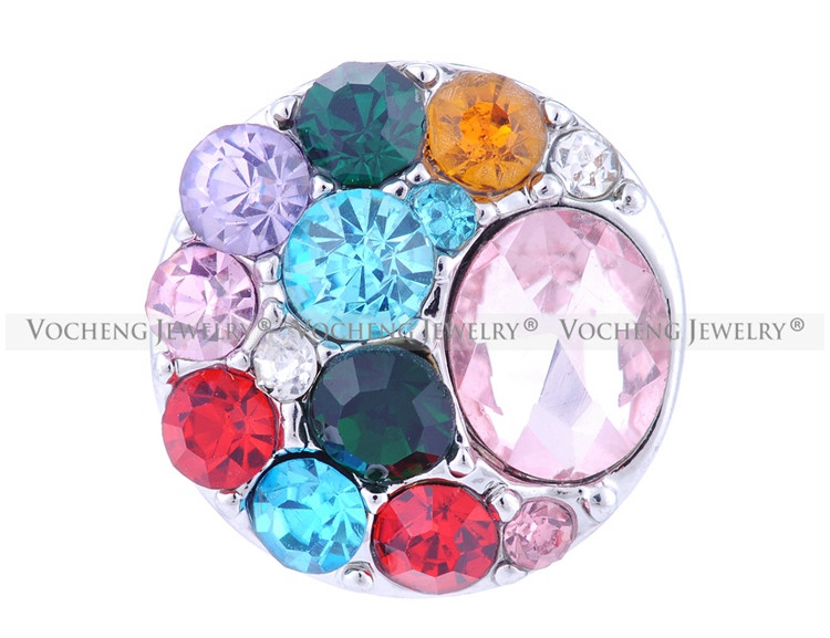 Wholesale 20PCS/Lot 9Color Vocheng Crystal Gingersnaps button Jewelry (Vn-032*20) Free Shipping