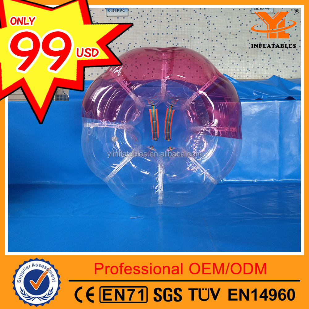 High Quality TPU Sport Bubble Football ,Bubble Soccer for Sale, Inflatable Body Bumper Ball for Adult