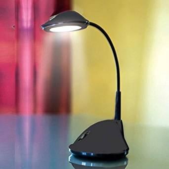 Cordless Lightweight 36 LED Black Flexible Neck Desk Lamp