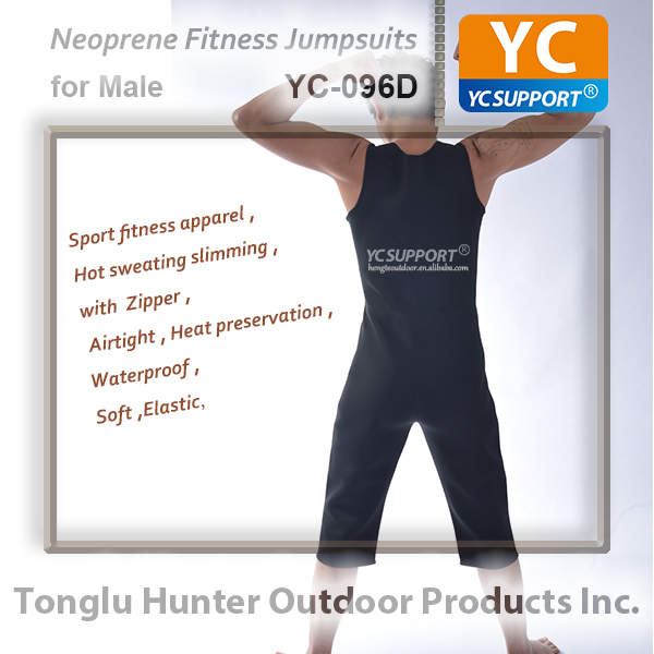 Custom neoprene fitness jumpsuits bodysuit male men bodybuilding apparel