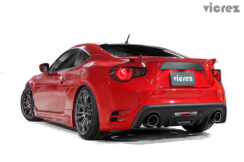 Vicrez Scion FRS / Subaru BRZ 2013-2016 VZ Style Polyurethane Rear Bumper - vz100463
