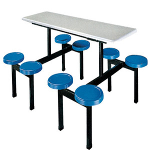 Restaurant Furniture School Canteen Table and Stool 8 Seaters