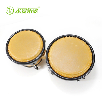 wholesale New And Popular Traditional wooden Music Instrument Bongo wholesale leather conjoined twin drum baby toys