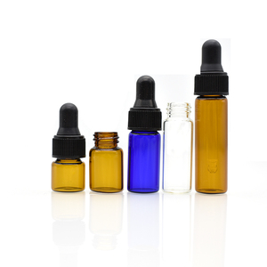 hot sale 1dram 2ml mini amber glass vial 1ml 3ml 5ml 8ml 10ml blue clear glass bottle with dropper