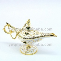 Home decoration aladdin oil lamp metal jewelry box(QF4075)