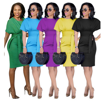 5 Color Plus Size Fashion African Design Women Office Work Clothing Dresses Lady Summer