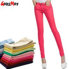 GAREMAY Cáqui Queda Doces Calças Calças Lápis 2016 Primavera das Mulheres Calças Stretch Para As Mulheres Senhoras Finas Calças Jeans Feminino 1010