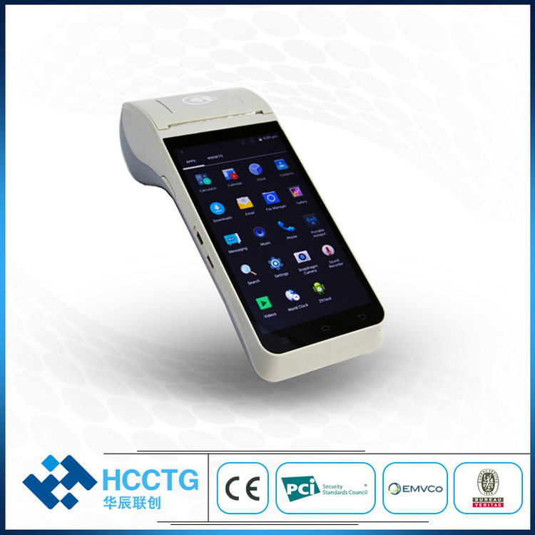 Support 1D 2D Scanning Handheld NFC Android POS With Printer HCC-Z91