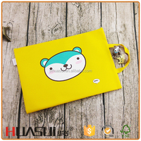 Promotional stationery custom cartoon zipper reticule pencil case