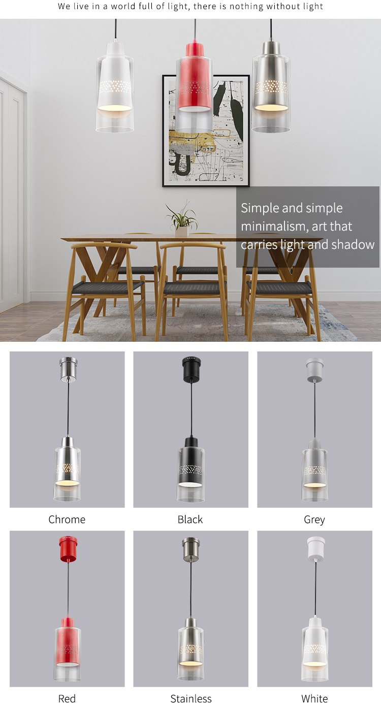 Hot selling battery operated vintage aluminium edison modern pendant lighting