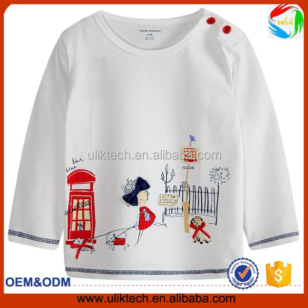 whosesale ropa infantil elegante ltimo diseo lindo ropa nios algodon tshirt para beb vestido
