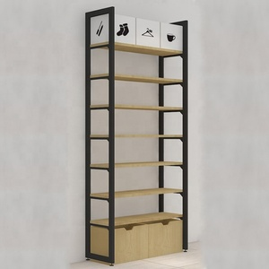 Japan Miniso Metal and wooden supermraket wall rack shelf
