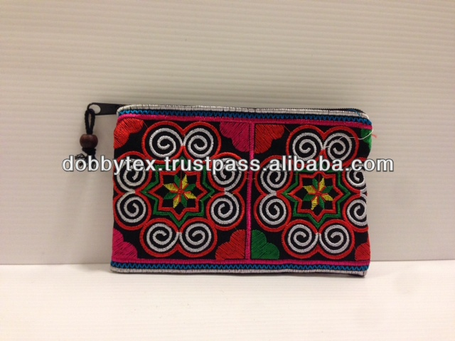 Thailand handmade embroidery Hmong cosmetic , Mobile purse Hotsell