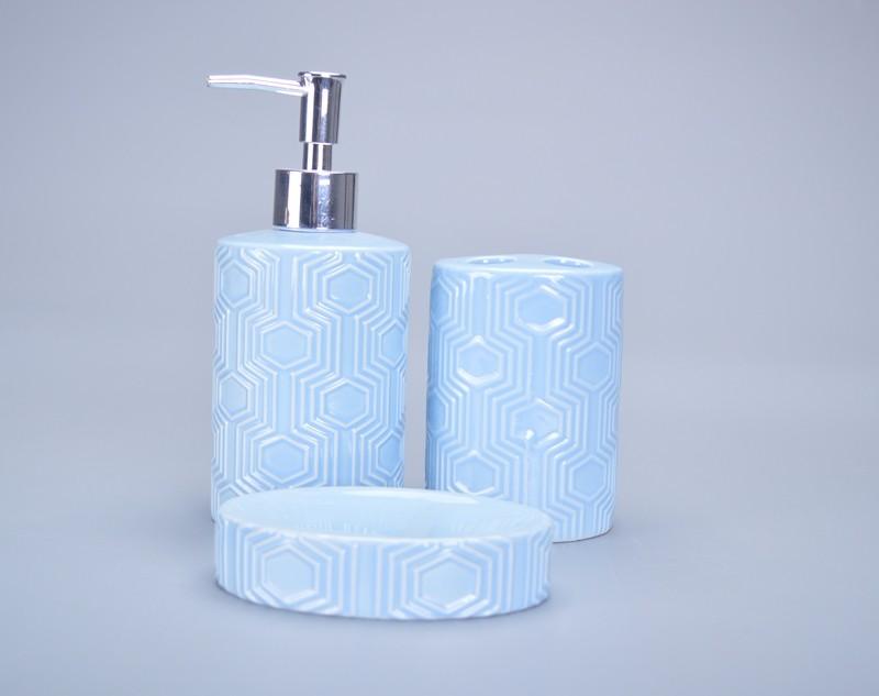 Hot Sale Light Blue Glazed Brand Name Bathroom Accessories ...