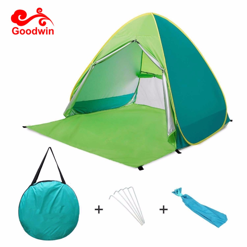 Beach Tent Umbrella Sun Shelter Instant Portable Cabana Shade Outdoor Pop Up Anti Uv 50 Lightest Most Le Easyup