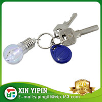 Promotional Gifts Led Light Bulb Key Chain Custom Logo Mini Led Keychain Toy Games