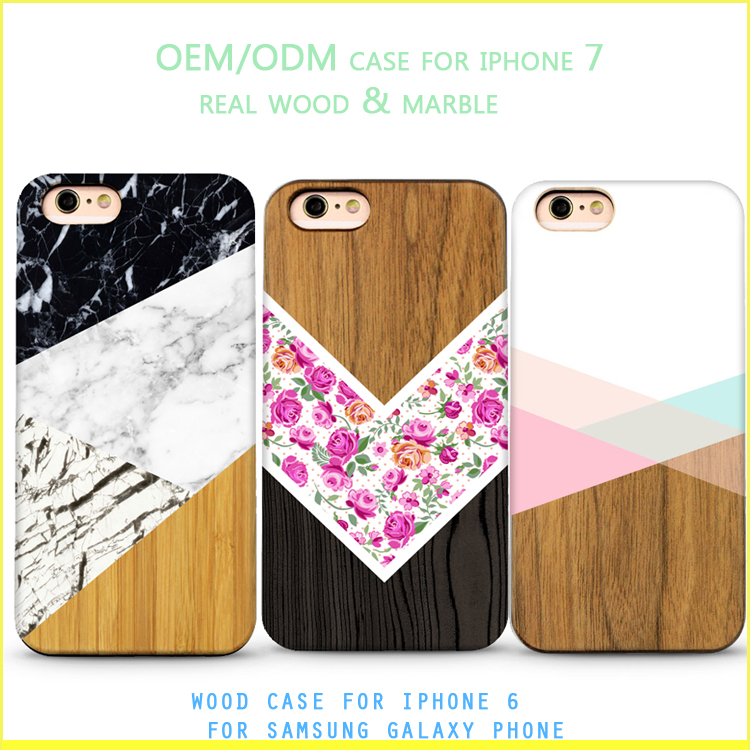 Wholesale bamboo 3d wood phone case for iphone 7 silicon case for iphone 6 plus for galaxy a8 a7 a5 a7 2016 cork wood case