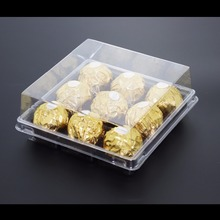 Chinese factory custom plastic chocolate packaging boxes for food
