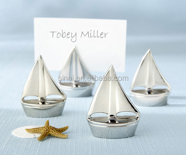 "Golden ""Kissing Bell"" Place Card Holders /Photo Holder"