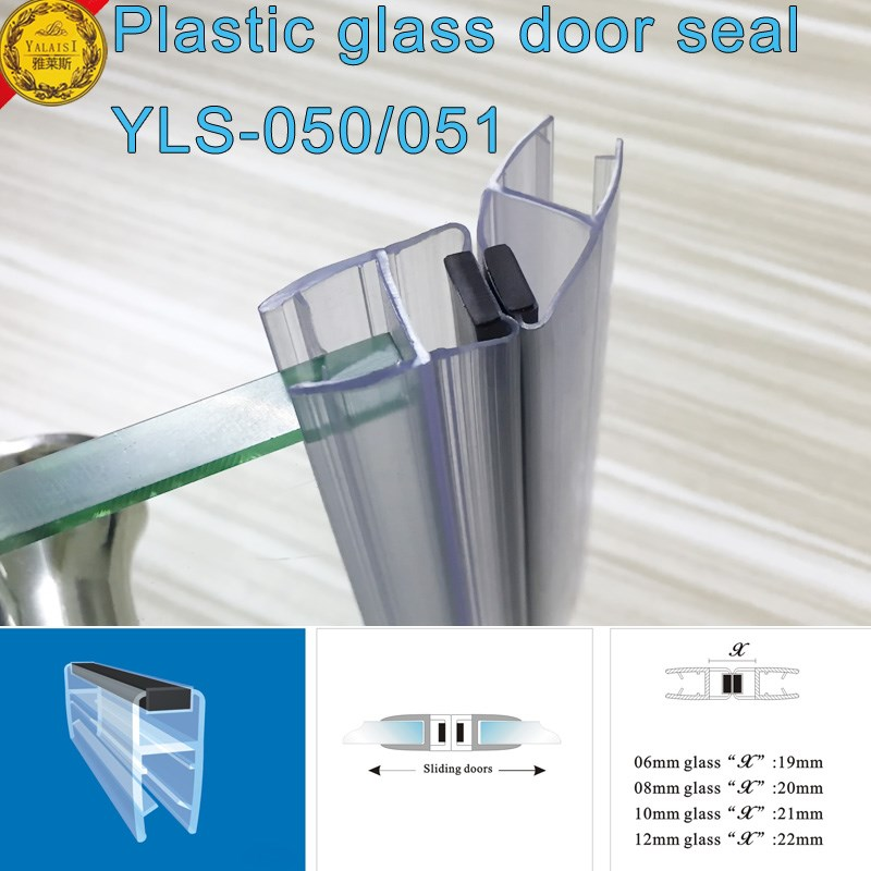 translucent plasitc glass door lip seals with black magnetic for shower room hygiense room washing room  sc 1 st  Gaoyao Jinli Town Yalaisi Metal Manufactory - Alibaba & translucent plasitc glass door lip seals with black magnetic for ... pezcame.com