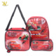 2018 Hot selling Cars Backpack Lunch Pencil Kids school bag set
