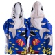Strong water absorption animal hooded kids poncho beach towel for children