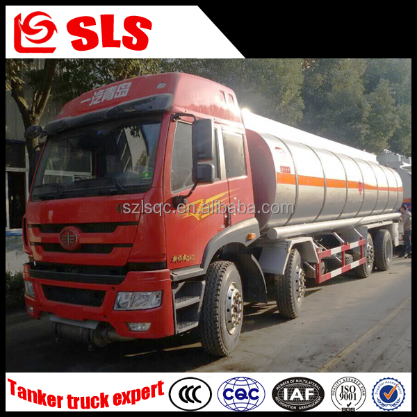 FAW 8*4 stainless steel tanker truck for ammonia/hydrochloric acid