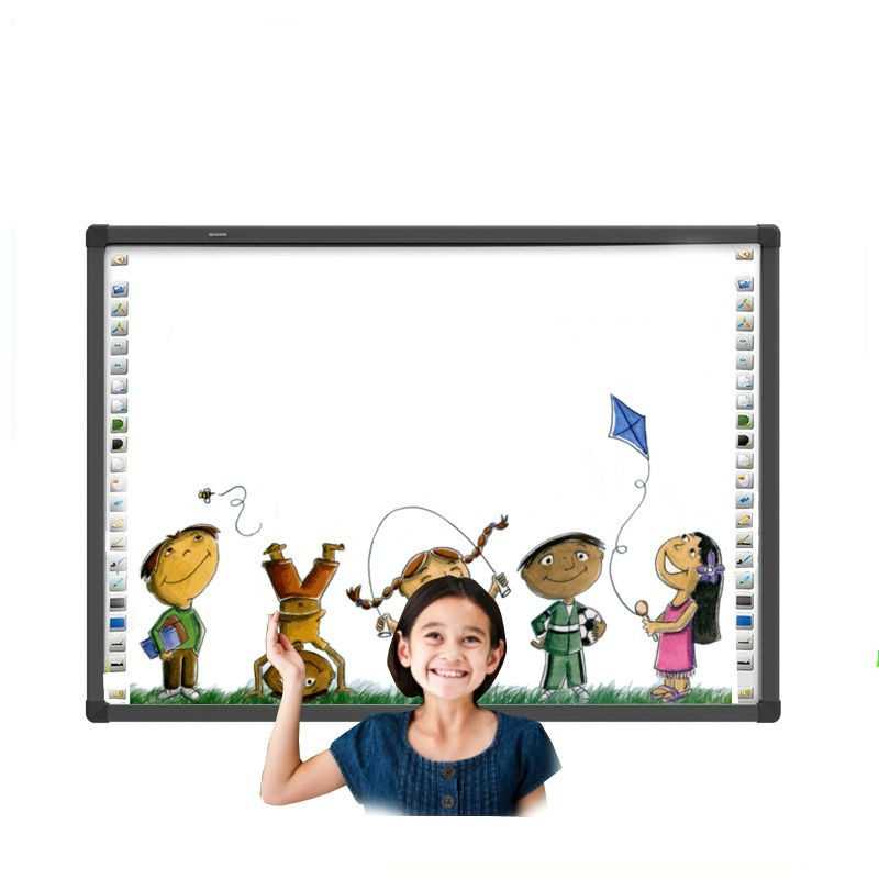 50 inch tot 150 inch Interactieve touchscreen smart board interactive windows10 alle in een projector whiteboard schrijfbord
