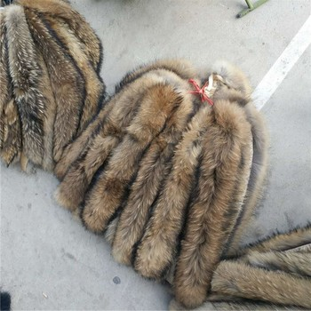 High Quality Animal Skin Materials Real Raccoon Fur