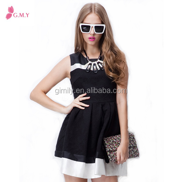 Fahional Black sleeveless short dree ,Bubble Skirt