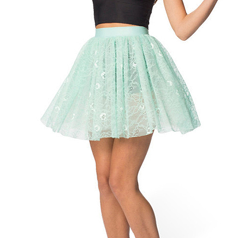 99d3b14ed Summer Style Net Yarn Fly Mini SKirts 2015 Candy Color Bouffant Puffy Short  Mini Skirt Elastic