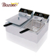 Wholesale ODM Heavy Duty Electric Stainless Steel Commercial 2 Tanks 2 Baskets Countertop Deep Fryer